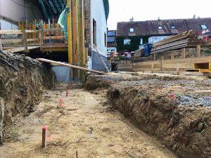 Vorbereitungen für den Anbau «Im langen Loh/Erstfeldstrasse