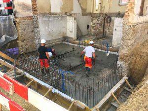 Im langen Loh 251, Fundament/Boden betonieren