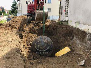 ein alter, stillgelegter Öltank wird gefunden