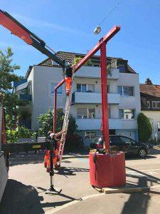Im langen Loh, Installation der Stomzufuhr