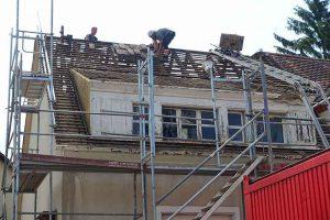 Im langen Loh 251, das Dach wird abgedeckt