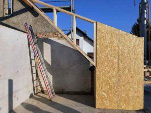 Aufbau Dachgeschoss