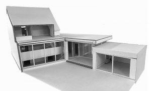 Modell Neubau Liegenschaft «Im langen Loh 251»
