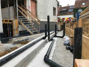 Tiefbauarbeiten Im langen Loh 251, Ecke Erstfeldstrasse