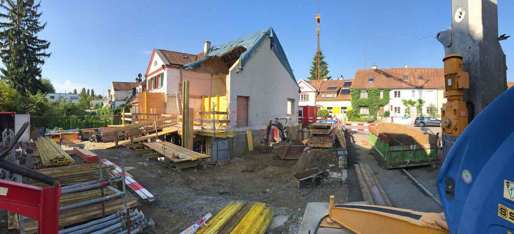 Baustelle, Im langen Loh 251, Übersicht im August 2017