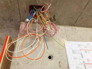 Elektrokabel, Kabelwirrwarr, Kabelsalat