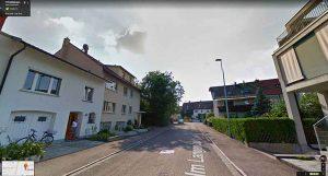 Google Maps Street View: Erstfeldstrasse mit Blick auf den «Wald»
