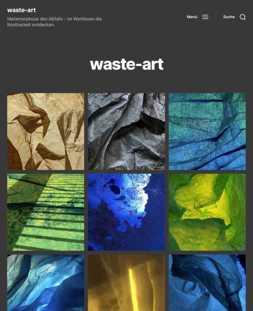 Bild: Bildschirmfoto Website Georg Marbet, Waste-Art